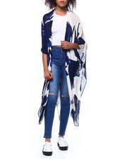 Fashion Lab - Lightweight Floral Print Long Ruana-2267868