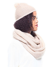 Women - Knit Hat/Pom & Loop Scarf Set-2268731