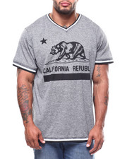 Brooklyn Cloth - Cali Bear Retro V-Neck Tee (B&T)-2268696