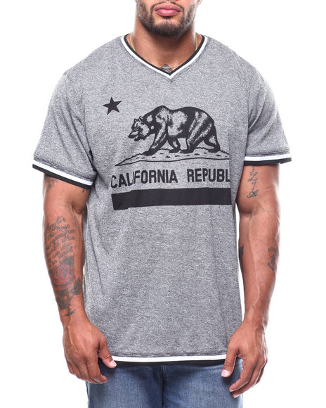 Brooklyn Cloth - Cali Bear Retro V-Neck Tee (B&T)