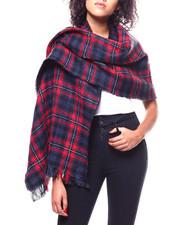 Fashion Lab - Window Pane Plaid & Boucle Blanket Scarf-2267893
