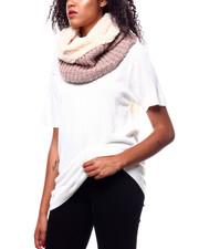 Fashion Lab - Lurex Knit Ring Scarf-2268723