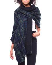 Fashion Lab - Window Pane Plaid & Boucle Blanket Scarf-2267898