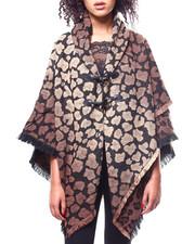 Sleeveless - Leopard Toggles Woven Cape-2267881