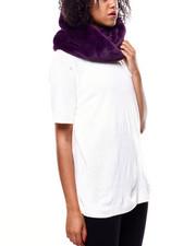 Fashion Lab - Twisted Faux Fur Ring Scarf-2268722