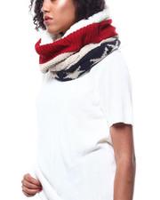 Fashion Lab - Americana Pattern Cable Knit Beanie-2268730