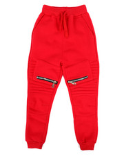 Boys - Fleece Zipper Joggers (4-7)-2267411