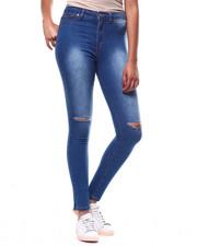 Bottoms - Hi Waist Slit Knee Skinny Jean-2266481