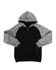 Hoodies - Marled Fleece Raglan Hoodie (8-20)-2267573