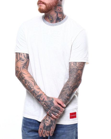 Calvin Klein - CONTRAST RIB SS TEE