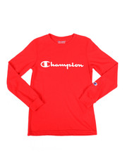 Tops - Long Sleeve Heritage Logo Tee (8-20)-2268101