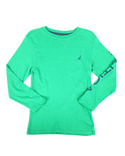 Tops - Solid Long Sleeve T-Shirt (8-20)-2266009
