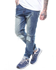Men - Blown Out Knee Jean with Zip Pockets-2269390