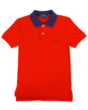 Tops - Cotton Mesh Polo Shirt (8-20)-2268019