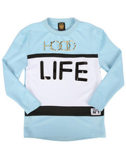 Tops - Hood Life Long Sleeve Shirt (8-20)-2267455