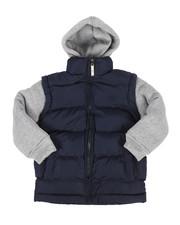 Arcade Styles - Bubble Vest w/Fleece Hoodie (2T-4T)-2268075