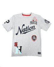 Sizes 8-20 - Big Kids - Patch Work Printed Jersey Tee (8-20)-2268964