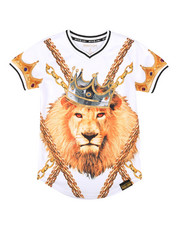 Sizes 8-20 - Big Kids - Chain Print Lion Tee (8-20)-2266024