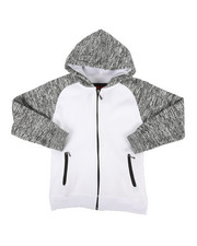 Sizes 8-20 - Big Kids - Marled Fleece Raglan Hoodie (8-20)-2267480