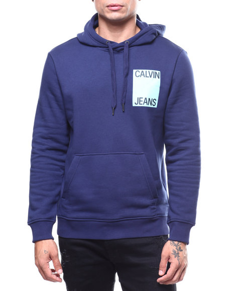 Calvin Klein - STACKED LOGO CROSSOVER HOODIE