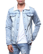Kilogram - SHERPA DISTRESSED DENIM JACKET-2270500