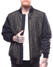 Men - Hive Quilted Colorblock Nylon Bomber-2270884