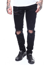Men - Pacific  Black Ripped Jean-2270920