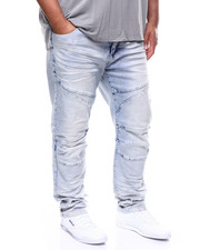 SMOKE RISE - Stretch Denim w/ Knee Treatment Jean (B&T)-2270215