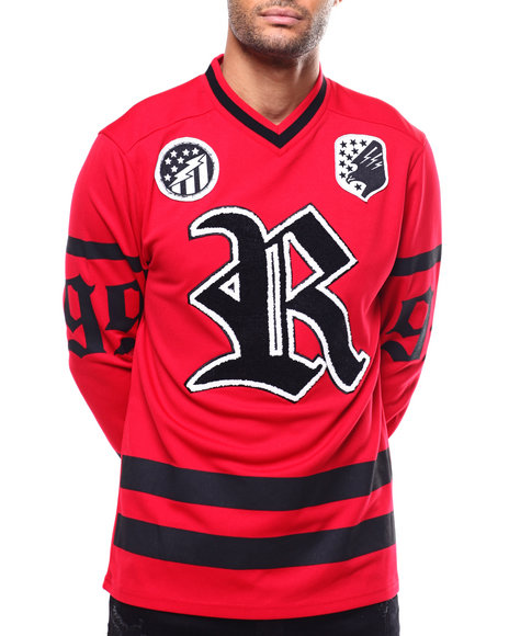 Rocawear - RUSTY KNOT V-NECK LS JERSEY