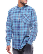 ROLLAS - TRADIE SUFFOLK BLUE CHECK SHIRT-2271803