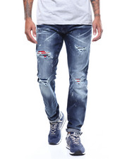 Slim - Aaron Distressed Jean w Contrast Patch-2272109