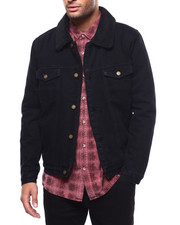 Denim Jackets - DENIM SHERPA JACKET-2271916