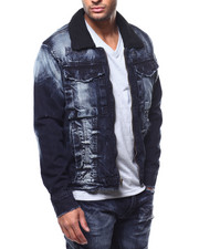 Denim Jackets - Sherpa Distressed Denim Jacket-2271891