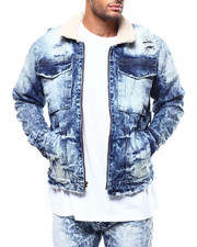 Jordan Craig - Sherpa Distressed Denim Jacket-2271874