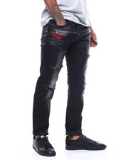 Jordan Craig - Distressed Jean w Contrast Patch-2272091