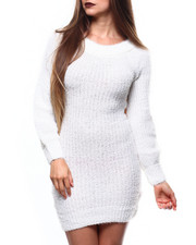 Women - Eyelash Off Shoulder L/S Mini Dress-2271351