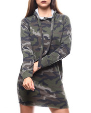 Fashion Lab - Fitted Hoodie Dress-2271401
