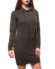 Women - Fitted Hoodie Dress-2271392
