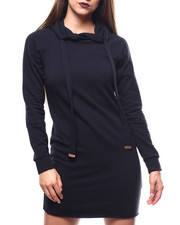 Women - Fitted Hoodie Dress-2271382