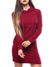 Women - Fitted Hoodie Dress-2271406
