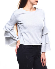 Almost Famous - Ruffle Sleeve L/S Pullover-2272429