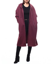 Outerwear - L/S Hooded Oversized Sweater Coat-2272487