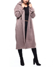 Outerwear - L/S Hooded Oversized Sweater Coat-2271397