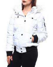 Outerwear - Bomber Jacket/Faux Fur Tri Hood-2270248
