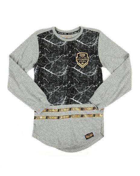 SWITCH - Long Sleeve Color Block Track Print Tee (8-20)