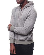 Outerwear - Heathered Zip up Hoodie-2273392
