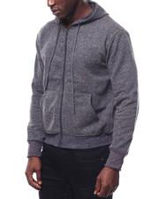 Outerwear - Heathered Zip up Hoodie-2272887