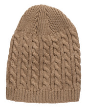 Men - Cuffless Cable-knit Beanie-2273152