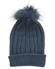 Fashion Lab - Genuine Raccoon Pom Hat-2273628