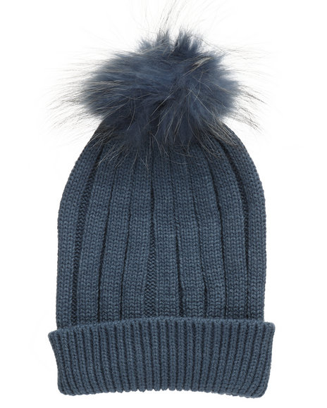 Fashion Lab - Genuine Raccoon Pom Hat